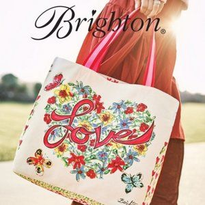 "NWT Brighton Love Tweet Tote Size 14""x16""x8"""